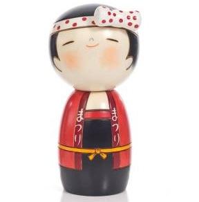 Lucky kokeshi doll